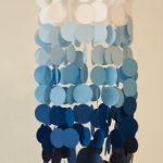 Blue Ombre Party Chandelier