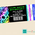 Glow In The Dark Party Invitations