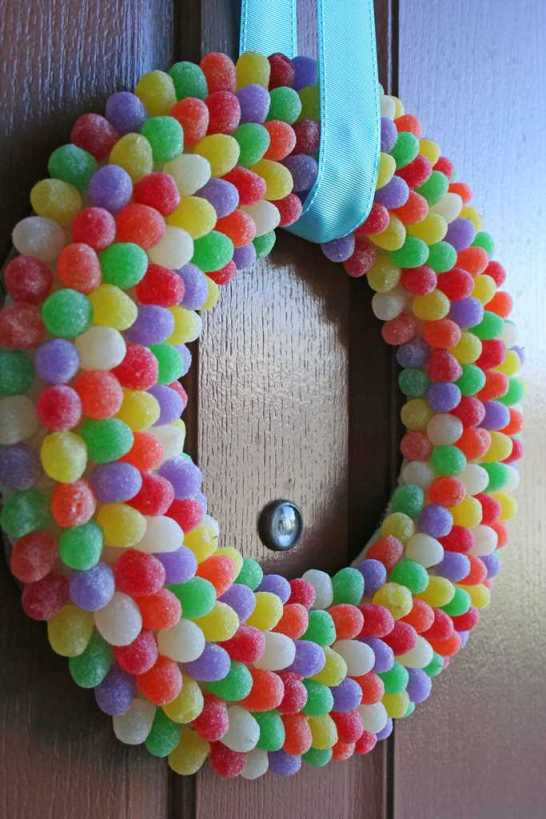 Gumdrop Candy Wreath for Candy Party