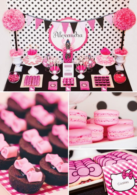 Hello Kitty Party Dessert table-love this for a sweet 16