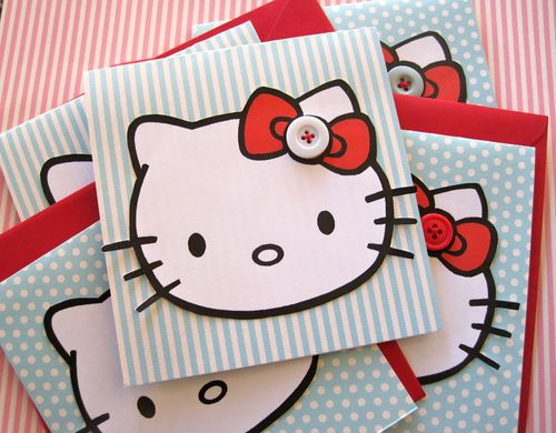 Lovely hello kitty invitations-cute for a sweet 16!