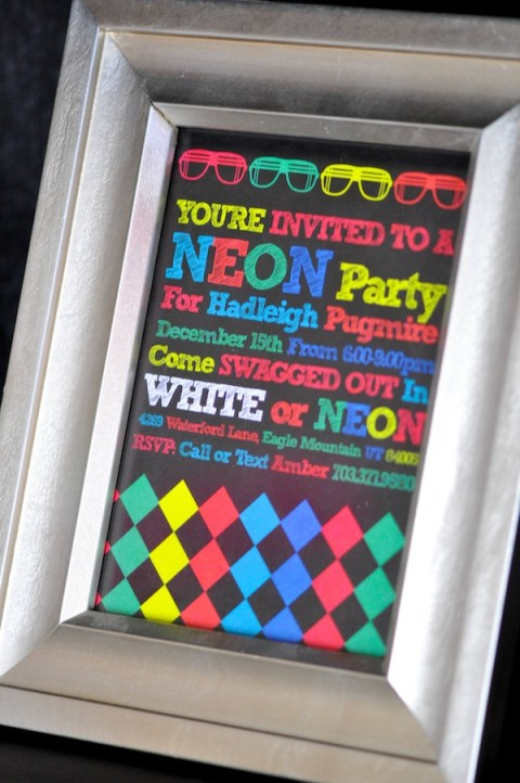 Neon Glow In The Dark Party Invitation. See More Glow In The Dark Party Ideas On B. Lovely Events