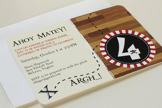 Pirate Party Birthday Invitation