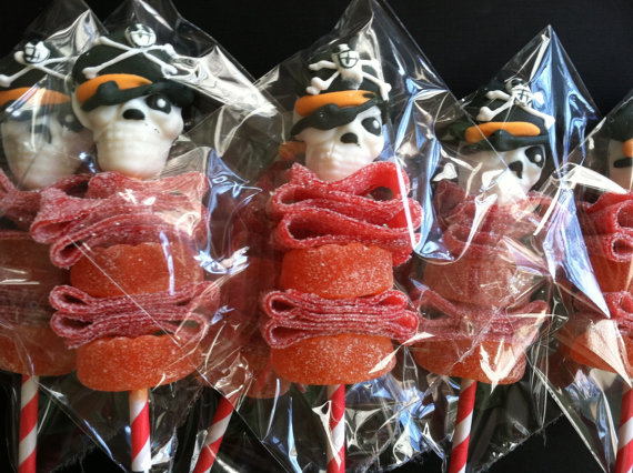 Pirate party mini candies