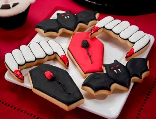Vampire Halloween Cookies