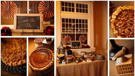 Pie stations are wonderful for weddings or Thanksgiving
