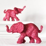Glitter safari elephants! Oh I love this for a baby shower!