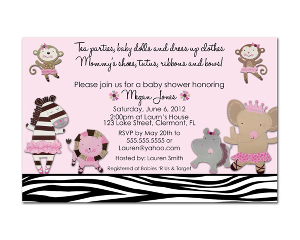 Safari themed baby shower invitation- too cute!