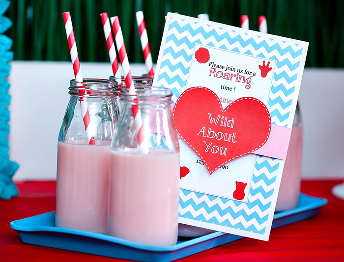 Wild About You Valentine's Day Invitation - B. Lovely Events