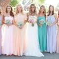 Pastel wedding bridesmaid dresses