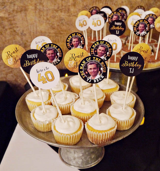 Cupcake Design For Man : 40th Birthday Roast & Toast! - B. Lovely Events