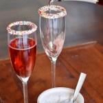Champaign Sprinkled rimmed Drinks!
