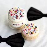 Rainbow Sprinkle Macaroons-So Cute!