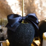 Black and gold Oscar Party- Fancy Caramel Apples