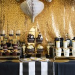 Black and gold Oscar Party- Filled With Tons Of Ideas