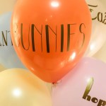 Typography DIY Easter Balloons!