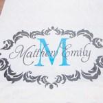 Custom Monogrammed Wedding Aisle Runner