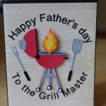 Fun Handmade Father's Day Grill Card