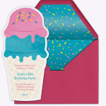 Ice Cream Party Online Invitation From Evite