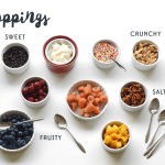 Toppings for an ice cream sundae bar!