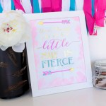 """Make This """"She Is Fierce"""" DIY Gold Sign!"""