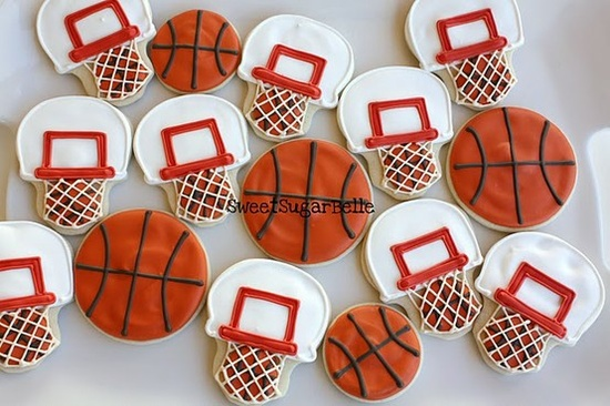 March Madness hoop and basketcookies