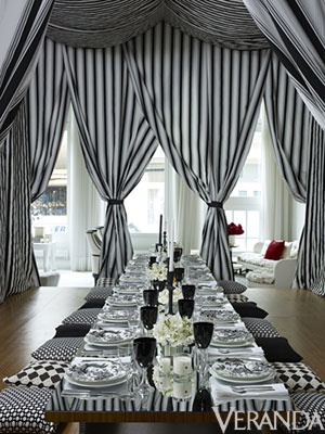 Black and White Reception in tent