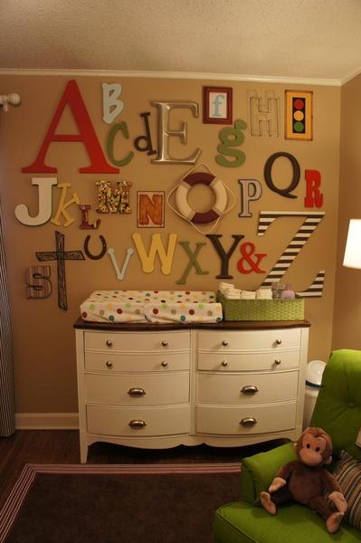 baby shower alphabet theme idea and nursery