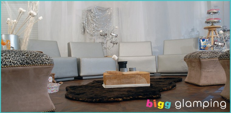 glamping tent for bridal shower