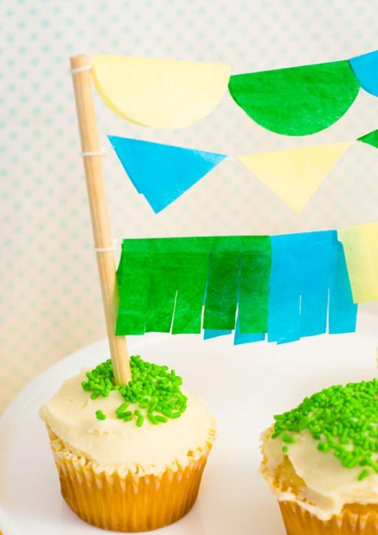 Cinco de mayo cupcake-garland