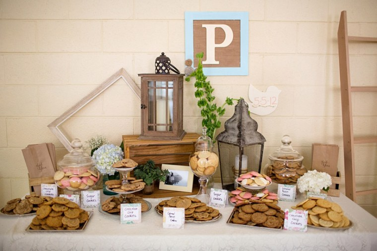 garden vintage cookie bar for grad party