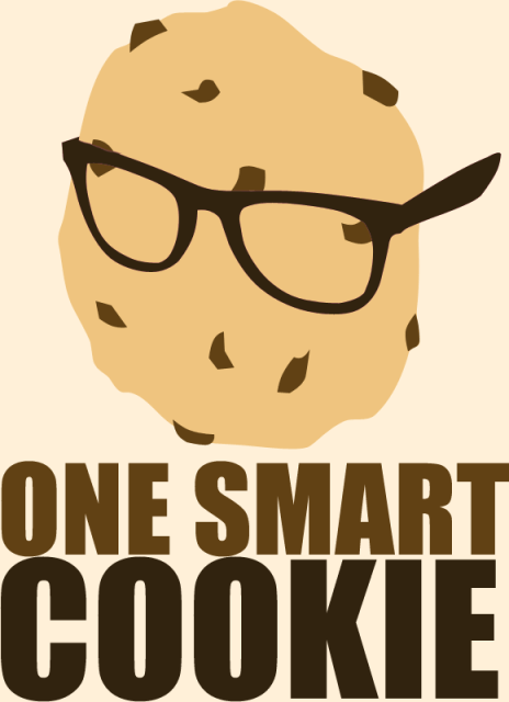 One smart cookie grad party poster