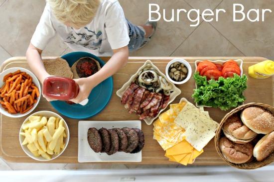 Burger bar. Great for a summer bbq!