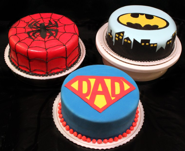 Father's Dad superhero cakes