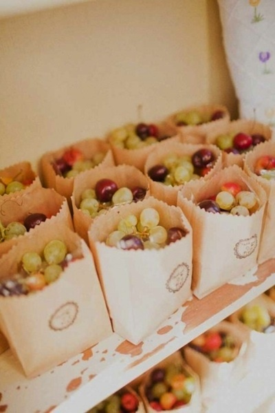 fresh fruit baggies for summer bbq