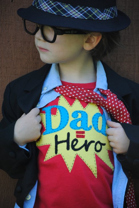 Kids Father's Dad Dad= hero shirt!