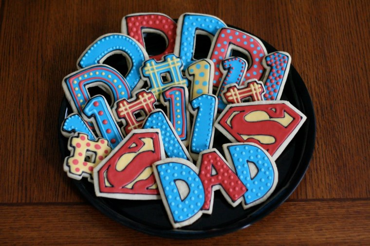 Super Dad Father's Day Cookies