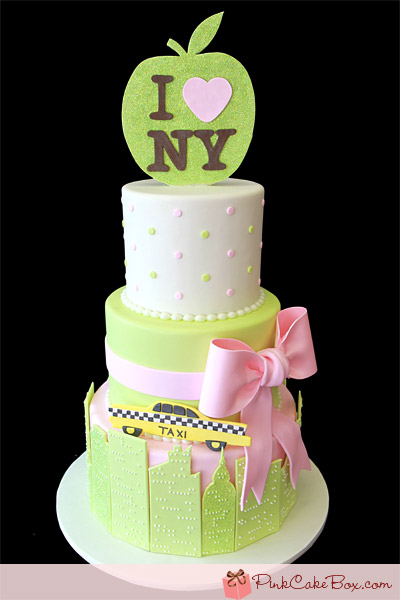 I Heart New York baby shower cake