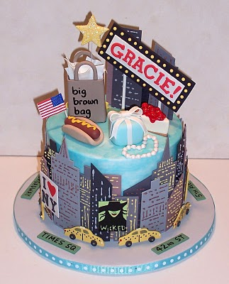 New York City themed cake for a new york party