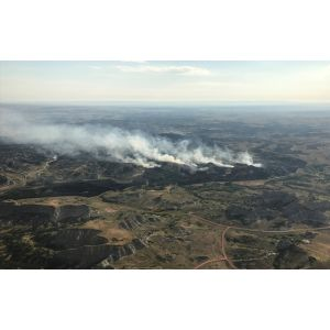 Comely Little Missouri National Grassland Western National Grassland Wildfire Impacts Trail Local News This 2017 Photo Taken By North Dakota Way Patrol Show Magpie Fire