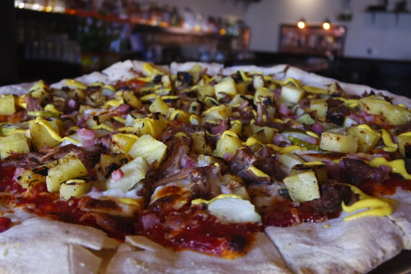 Large Of Pizza On Pineapple