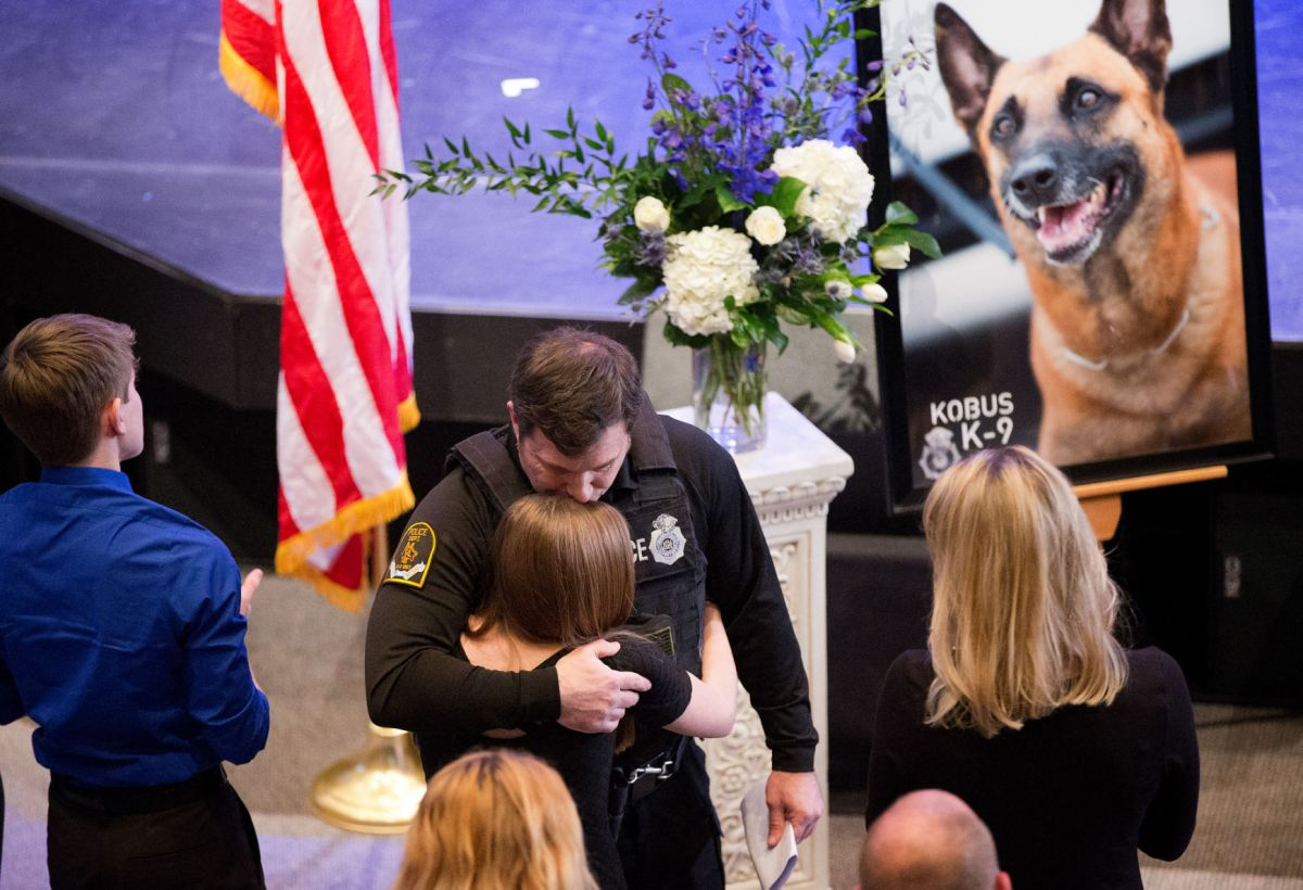 'Thank you, brave partner. Your job here is done': Mourners say goodbye to Omaha police dog ...