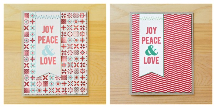 Joy Peace and Love Cards