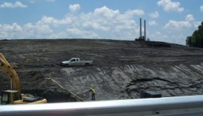A coal ash spill cleanup in Tennessee.