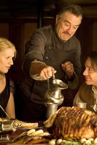 Robert De Niro, Claire Danes and Charlie Cox as Captain Shakespeare, Yvaine and Tristan