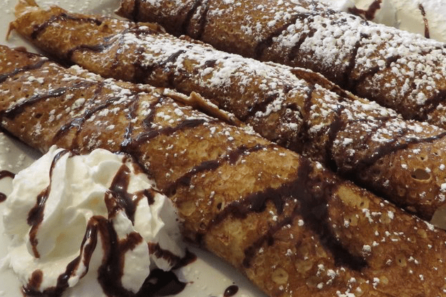 Banana Nutella Roasted Walnut Crepes - Blue Moon Grill Wakefield via Yelp by Vivian C.