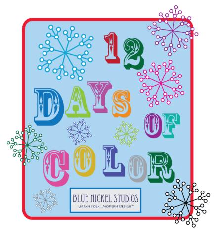 12 days of color logo