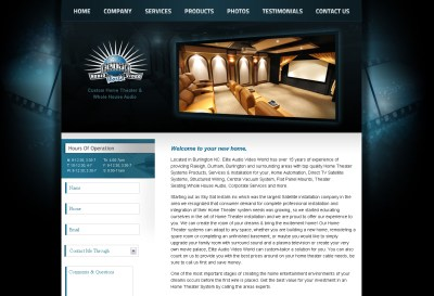 Home Theater Web Design | Blueprint