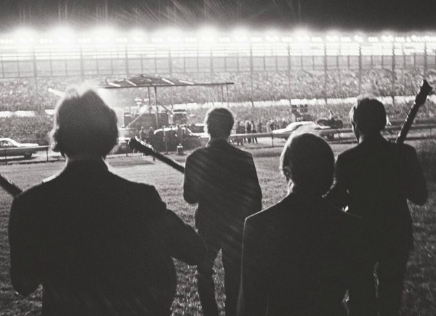 The Beatles, just before taking the stage for their final concert at Candlestick Park in San Francisco on Aug. 29, 1966.