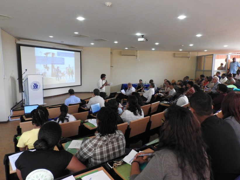 Figure 8 Participants look on as Sohel Rana (UN-Habitat) presents during the Planning Laboratory